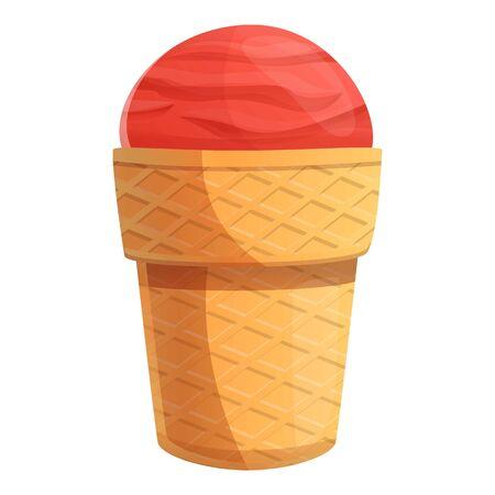 Cone ice cream icon. Cartoon of cone ice cream vector icon for web design isolated on white background