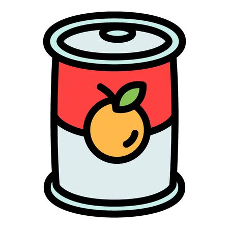 Fruit tin can icon. Outline fruit tin can vector icon for web design isolated on white background Stock fotó - 140372096