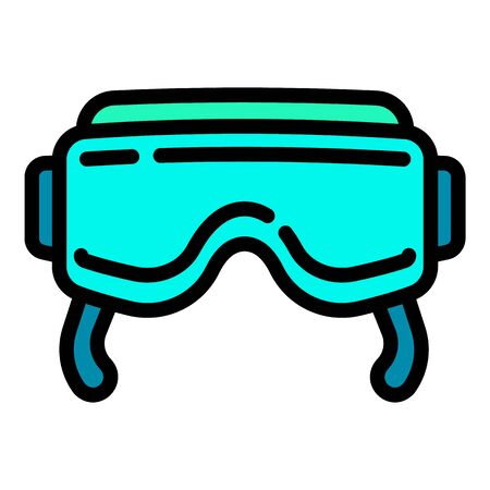 Vr goggles icon. Outline vr goggles vector icon for web design isolated on white background Illustration