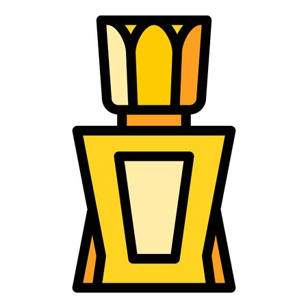 Elegant perfume icon. Outline elegant perfume vector icon for web design isolated on white background