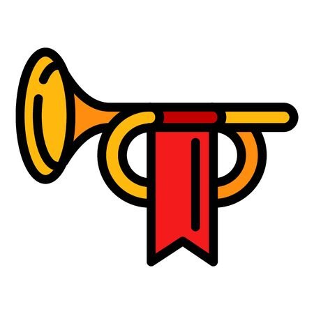 Royal trumpet icon. Outline royal trumpet vector icon for web design isolated on white background Ilustrace