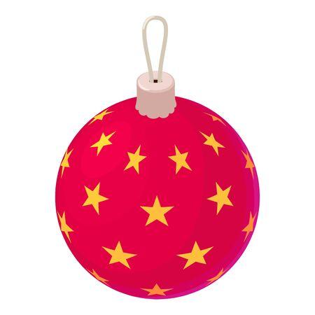 Christmas tree ball toy icon. Isometric of christmas tree ball toy vector icon for web design isolated on white background