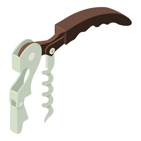 Hand corkscrew icon. Isometric of hand corkscrew vector icon for web design isolated on white background