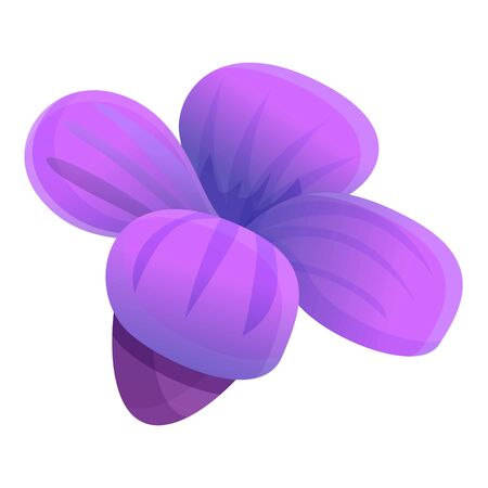 Spring lavender flower icon. Cartoon of spring lavender flower vector icon for web design isolated on white background