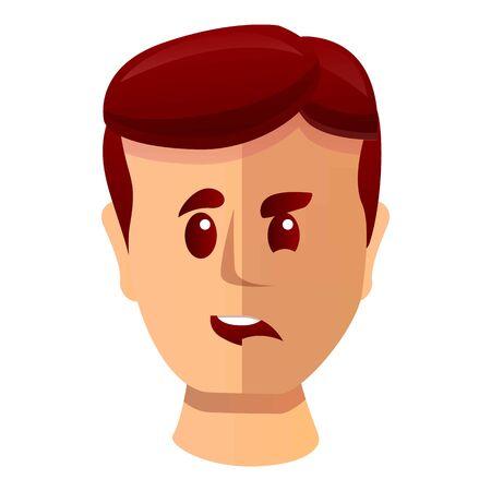 Bipolar disorder icon. Cartoon of bipolar disorder vector icon for web design isolated on white background