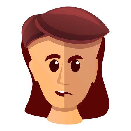 Woman bipolar disorder icon. Cartoon of woman bipolar disorder vector icon for web design isolated on white background Ilustração