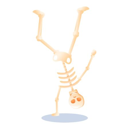 Dancing skeleton icon. Cartoon of dancing skeleton vector icon for web design isolated on white background