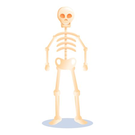 Cute halloween skeleton icon. Cartoon of cute halloween skeleton vector icon for web design isolated on white background