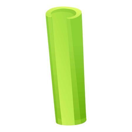 Celery tube icon. Cartoon of celery tube vector icon for web design isolated on white background Ilustração
