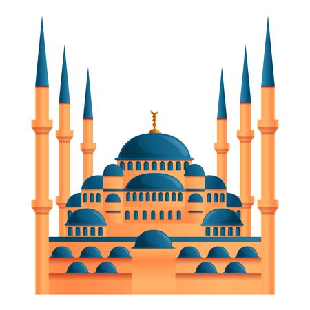 Istanbul mosque icon. Cartoon of istanbul mosque vector icon for web design isolated on white background 일러스트
