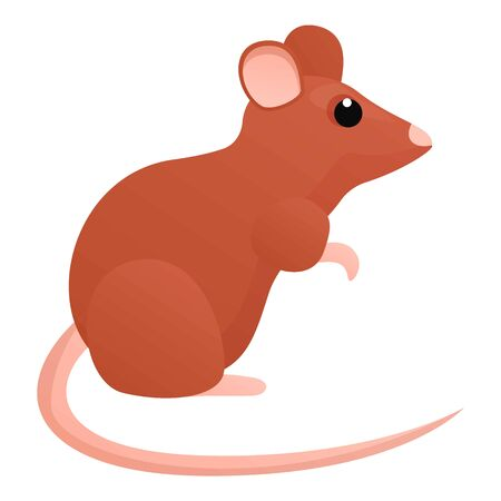 Animal rat icon. Cartoon of animal rat vector icon for web design isolated on white background Çizim