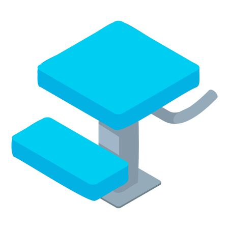 Pool stand icon. Isometric of pool stand vector icon for web design isolated on white background Stock Illustratie