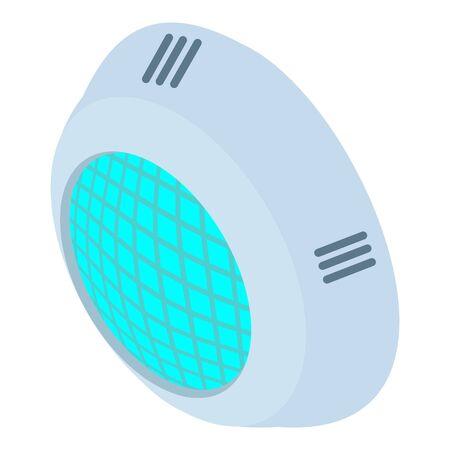 Pool light icon. Isometric of pool light vector icon for web design isolated on white background Illusztráció
