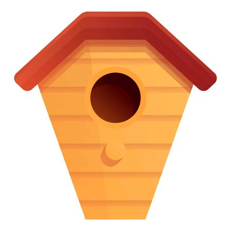 Bird house icon. Cartoon of bird house vector icon for web design isolated on white background