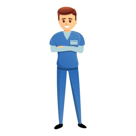 Student doctor icon. Cartoon of student doctor vector icon for web design isolated on white background