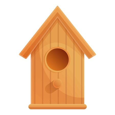Classic bird house icon. Cartoon of classic bird house vector icon for web design isolated on white background