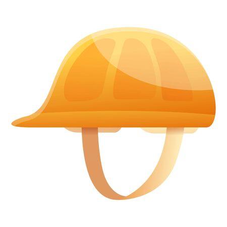 Road repair helmet icon. Cartoon of road repair helmet vector icon for web design isolated on white background