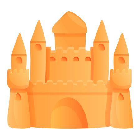 Architecture sand castle icon. Cartoon of architecture sand castle vector icon for web design isolated on white background Vettoriali