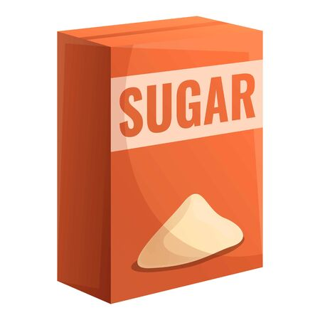 Sugar package icon. Cartoon of sugar package vector icon for web design isolated on white background