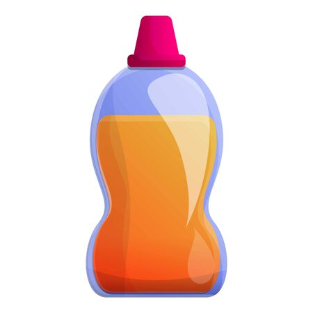 Sanitary gel bottle icon. Cartoon of sanitary gel bottle vector icon for web design isolated on white background