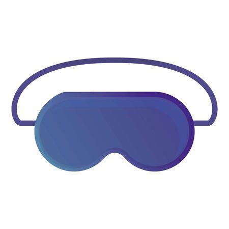 Blue sleeping mask icon. Cartoon of blue sleeping mask vector icon for web design isolated on white background