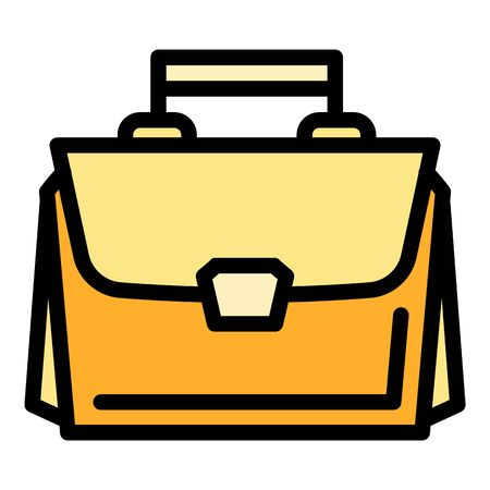 Leather bag icon. Outline leather bag vector icon for web design isolated on white background