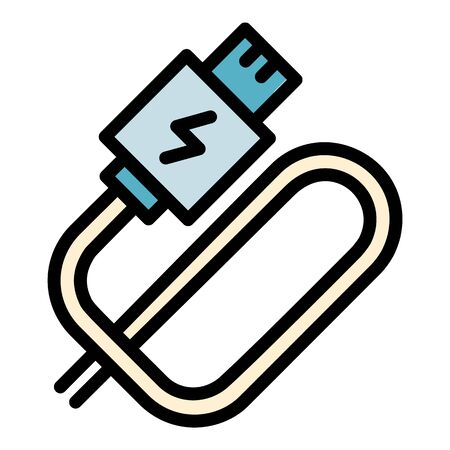 Electronic cigarette usb cable icon. Outline electronic cigarette usb cable vector icon for web design isolated on white background