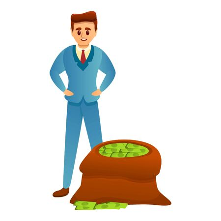 Rich man icon. Cartoon of rich man vector icon for web design isolated on white background Stock Vector - 142529998