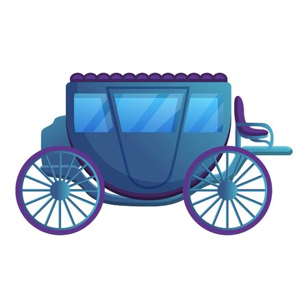 Medieval carriage icon. Cartoon of medieval carriage vector icon for web design isolated on white background