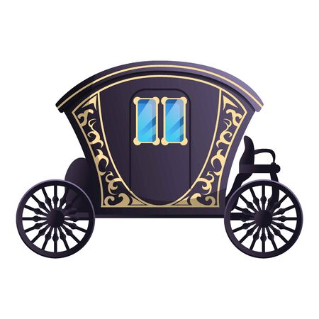 Fairytale carriage icon. Cartoon of fairytale carriage vector icon for web design isolated on white background