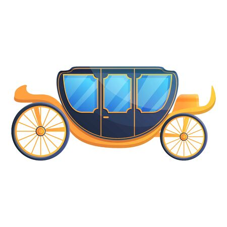 Royal carriage icon. Cartoon of royal carriage vector icon for web design isolated on white background Illustration