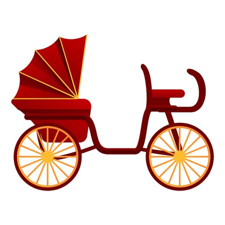 Medieval buggy icon. Cartoon of medieval buggy vector icon for web design isolated on white background Иллюстрация