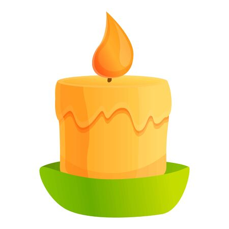 Candle light icon. Cartoon of candle light vector icon for web design isolated on white background