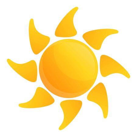 Desert sun icon. Cartoon of desert sun vector icon for web design isolated on white background