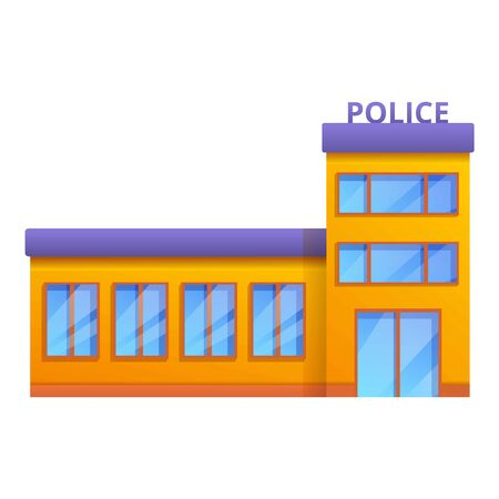 Police station icon. Cartoon of police station vector icon for web design isolated on white background