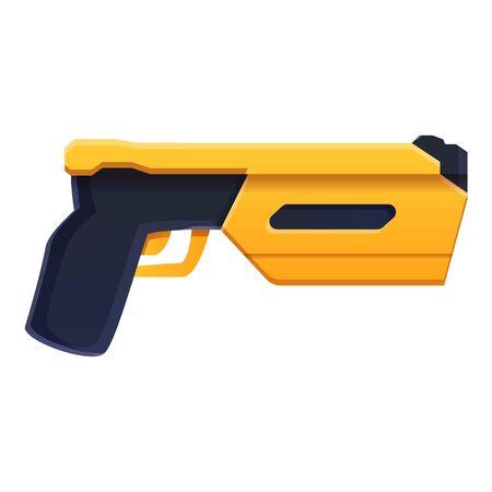 Police net pistol icon. Cartoon of police net pistol vector icon for web design isolated on white background Illusztráció