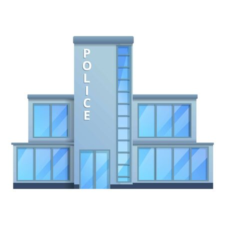 Police office icon. Cartoon of police office vector icon for web design isolated on white background 矢量图像