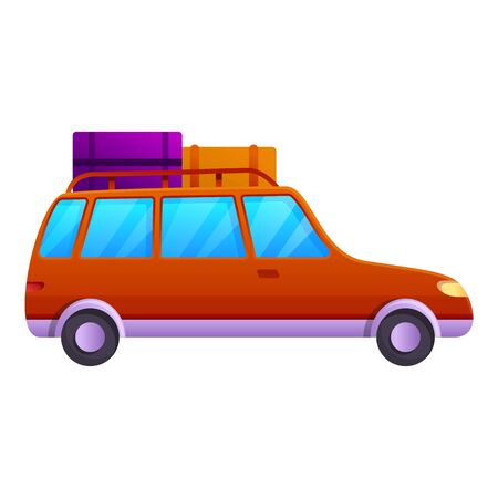 Picnic car trip icon. Cartoon of picnic car trip vector icon for web design isolated on white background