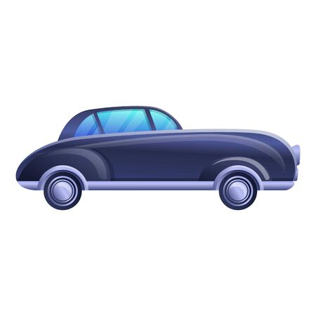 American old car icon. Cartoon of american old car vector icon for web design isolated on white background