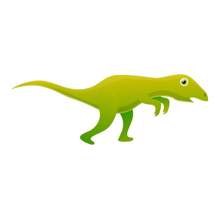 Green dinosaur icon. Cartoon of green dinosaur vector icon for web design isolated on white background Ilustração