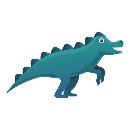 Stegosaurus icon. Cartoon of stegosaurus vector icon for web design isolated on white background