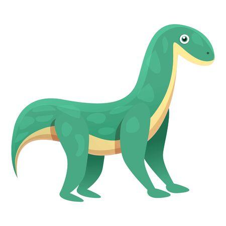 Brontosaurus icon. Cartoon of brontosaurus vector icon for web design isolated on white background