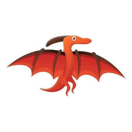 Pterodactyl icon. Cartoon of pterodactyl vector icon for web design isolated on white background Ilustração