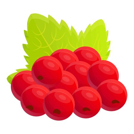 Currant berry icon. Cartoon of currant berry vector icon for web design isolated on white background