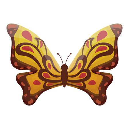 Monarch butterfly icon. Cartoon of monarch butterfly vector icon for web design isolated on white background 向量圖像