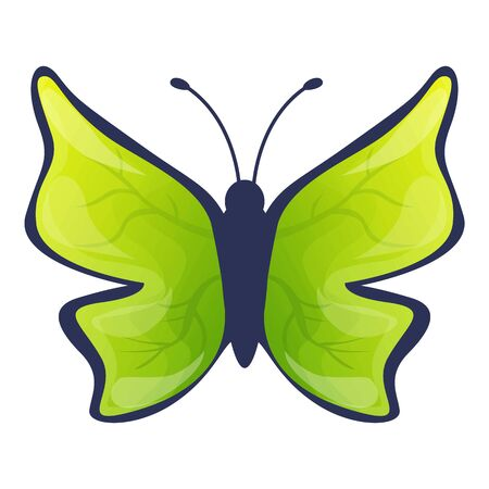 Charming butterfly icon. Cartoon of charming butterfly vector icon for web design isolated on white background