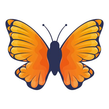 Cute brown butterfly icon. Cartoon of cute brown butterfly vector icon for web design isolated on white background
