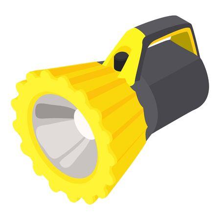 Underwater flashlight icon. Isometric of underwater flashlight vector icon for web design isolated on white background