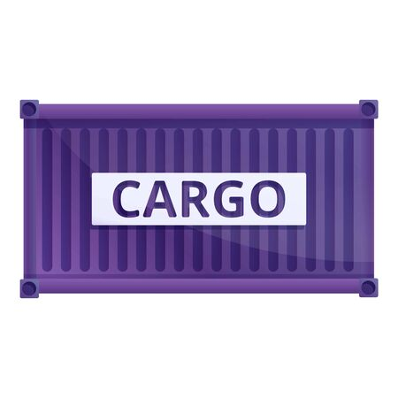 Storage cargo container icon. Cartoon of storage cargo container vector icon for web design isolated on white background