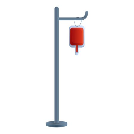 Blood transfusion stand icon. Cartoon of blood transfusion stand vector icon for web design isolated on white background